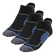 R-Gear Unstoppable Thin No Show Tab 3 pack Socks - Black S
