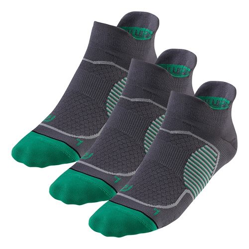 R-Gear Unstoppable Thin No Show Tab 3 pack Socks - Grey M