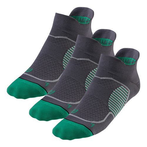 R-Gear Unstoppable Thin No Show Tab 3 pack Socks - Grey S