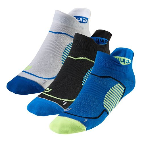 R-Gear Unstoppable Thin No Show Tab 3 pack Socks - Electric Blue L