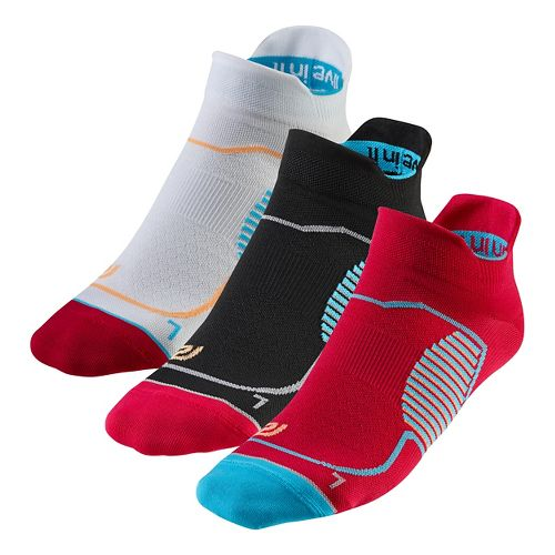 R-Gear Unstoppable Thin No Show Tab 3 pack Socks - Ruby S