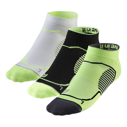 R-Gear Unstoppable Thin Low Cut 3 pack Socks - Neon Glow L