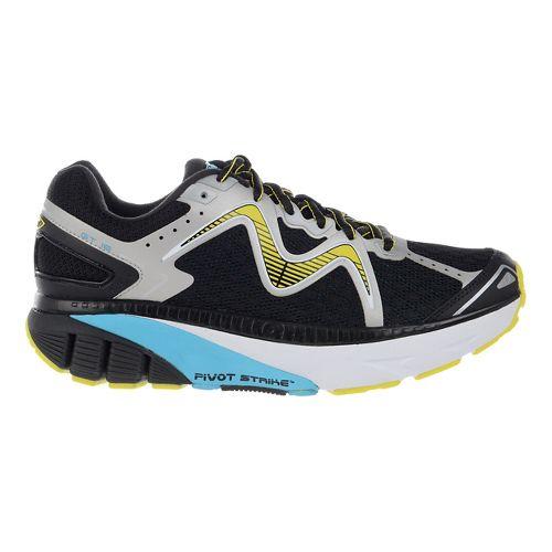 Womens MBT GT 16 Running Shoe - Black/Powder/Yellow 8