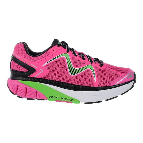 Womens MBT GT 16 Running Shoe - Fuchsia/Lime/Black 12