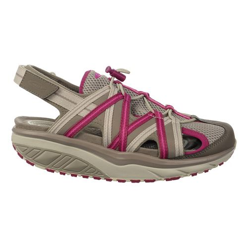 Womens MBT Jasira 6 Trail Sandals Shoe - Clay Grey/Red Violet 36