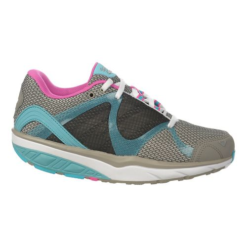 Womens MBT Leasha Trail 6 Lace Up Walking Shoe - Grey/Aqua/Pink Pop 43