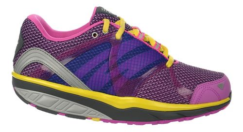 Womens MBT Leasha Trail 6 Lace Up Walking Shoe - Gum/Rose/Grey/Yellow 43