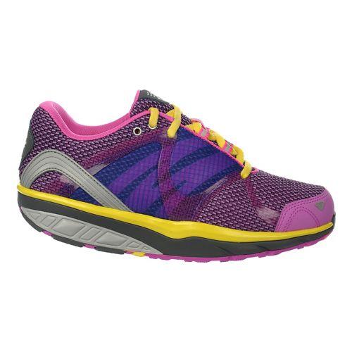 Womens MBT Leasha Trail 6 Lace Up Walking Shoe - Gum/Rose/Grey/Yellow 36