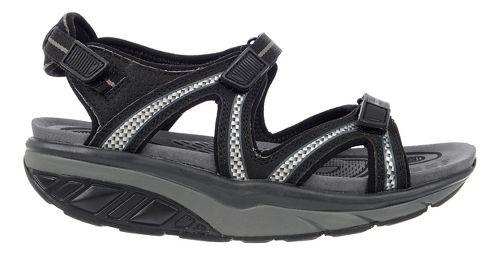 Womens MBT Lila 6 Sport Sandals Shoe - Black/Charcoal Grey 37