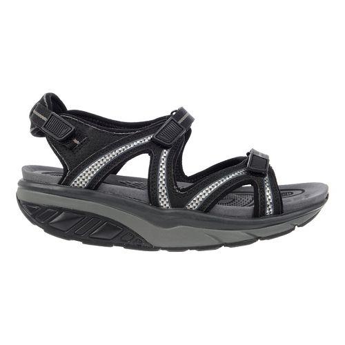 Womens MBT Lila 6 Sport Sandals Shoe - Black/Charcoal Grey 36