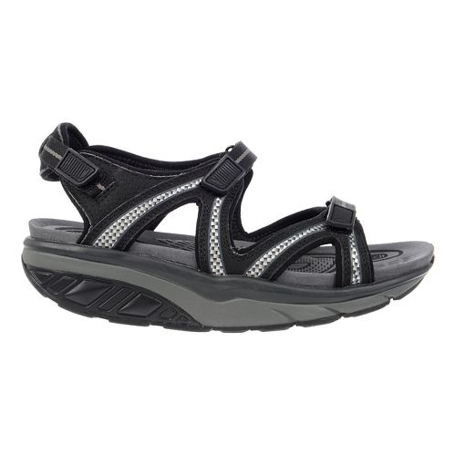 Womens MBT Lila 6 Sport Sandals Shoe - Black/Charcoal Grey 37