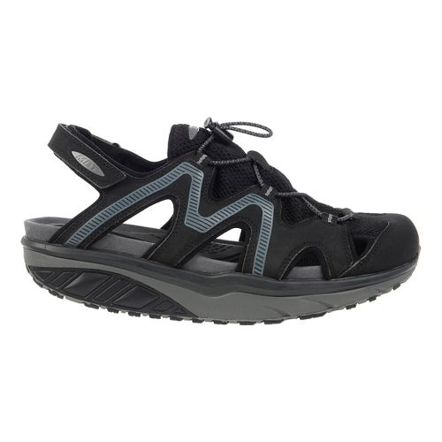 Mens MBT Jefar 6 Trail Sandals Shoe - Black/Charcoal Grey 42