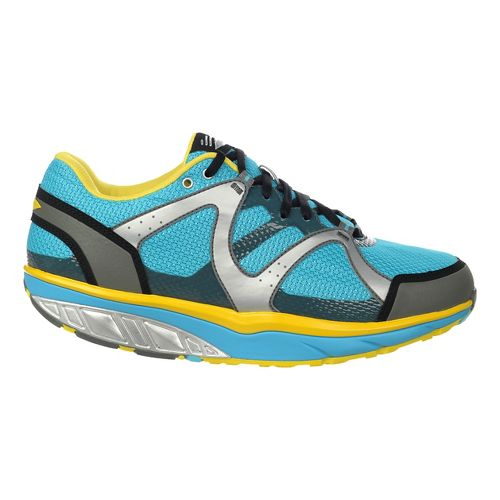 Mens MBT Sabra Trail 6 Lace Up Walking Shoe - Blue/Smoke/Yellow C 40