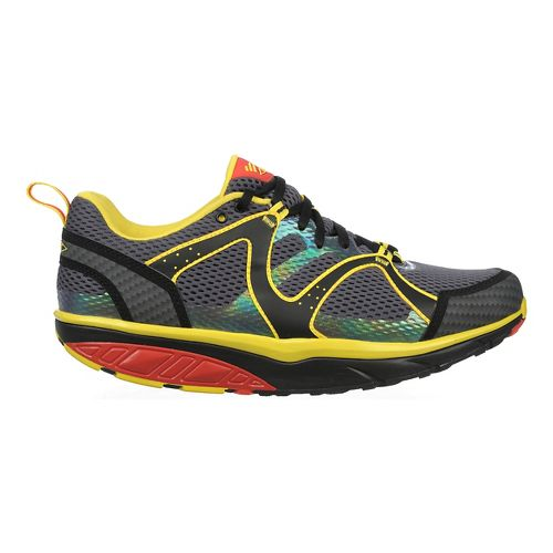 Mens MBT Sabra Trail Lace Up Walking Shoe - Red/Yellow/Black 40