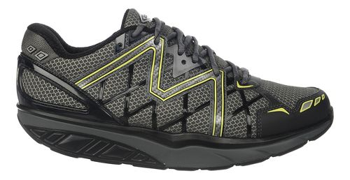 Mens MBT Simba 6 Walking Shoe - Black/Grey/Lime 41