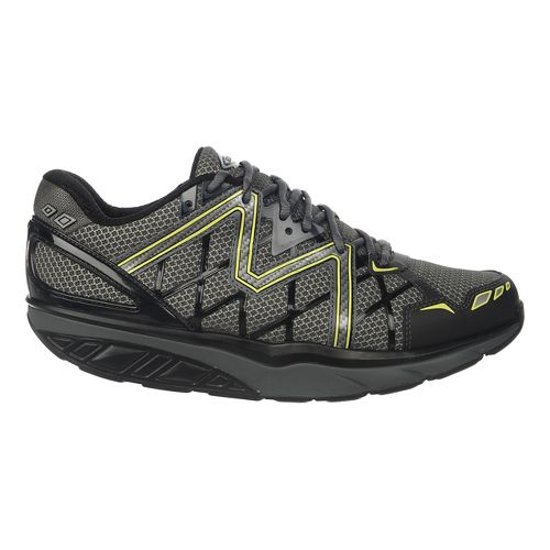 Mens MBT Simba 6 Walking Shoe - Black/Grey/Lime 43