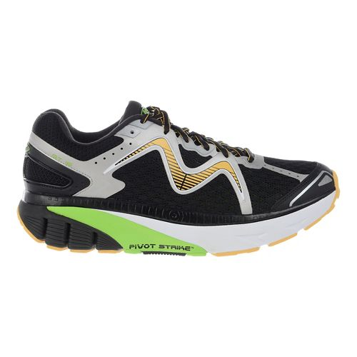 Mens MBT GT 16 Running Shoe - Black/Lime/Orange 10.5