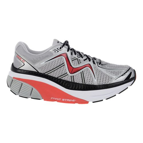 Mens MBT Zee 16 Running Shoe - White/Red/Silver 10.5