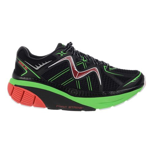 Mens MBT Zee 16 Running Shoe - Black/Fire Red/Lime 10