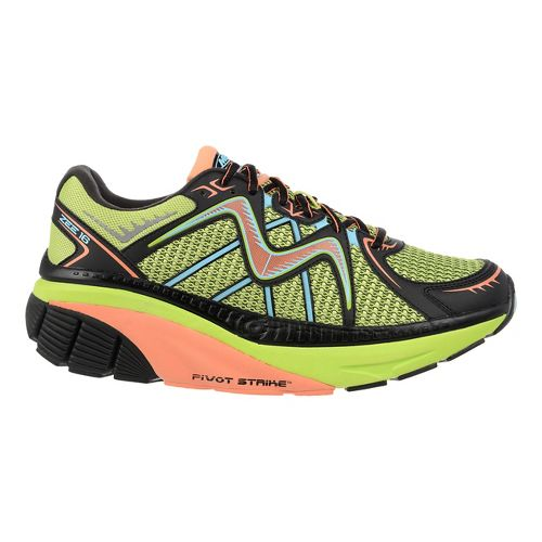 Mens MBT Zee 16 Running Shoe - Lime/Peach 9
