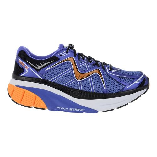 Mens MBT Zee 16 Running Shoe - Steel/Orange/Black 7.5