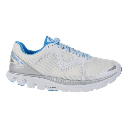 Womens MBT Speed 16 Lace Up Running Shoe - White/Blue/Silver 10.5