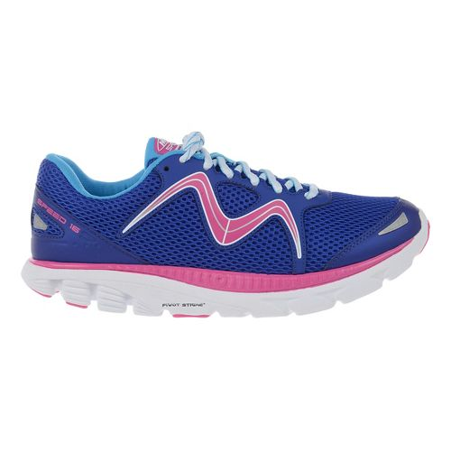 Womens MBT Speed 16 Lace Up Running Shoe - Navy/Royal/Fuchsia 9