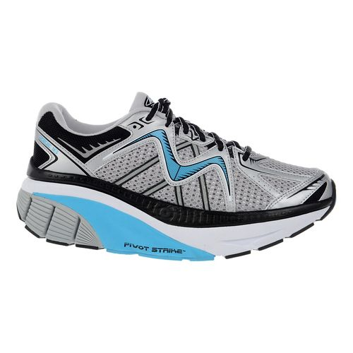 Womens MBT Zee 16 Running Shoe - Silver/Sky/Black 6