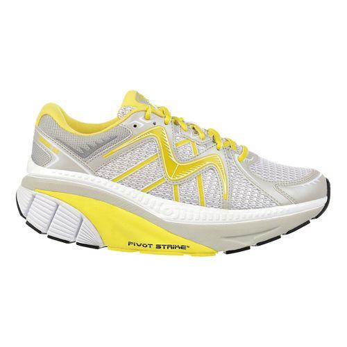 Womens MBT Zee 16 Running Shoe - White/Yellow 8