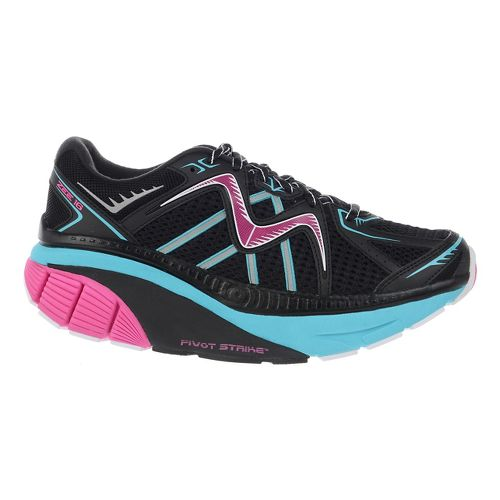 Womens MBT Zee 16 Running Shoe - Black/Fuchsia/Blue 6