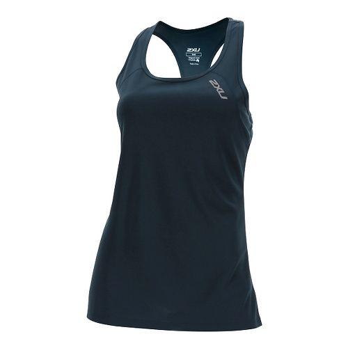 Womens 2XU Tech Vent Sleeveless & Tank Tops Technical Tops - Ombre Blue L