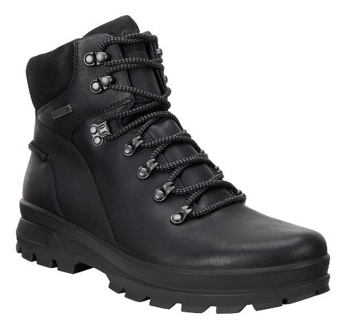 Mens Ecco Rugged Track GTX High Hiking Shoe - Black/Black 41