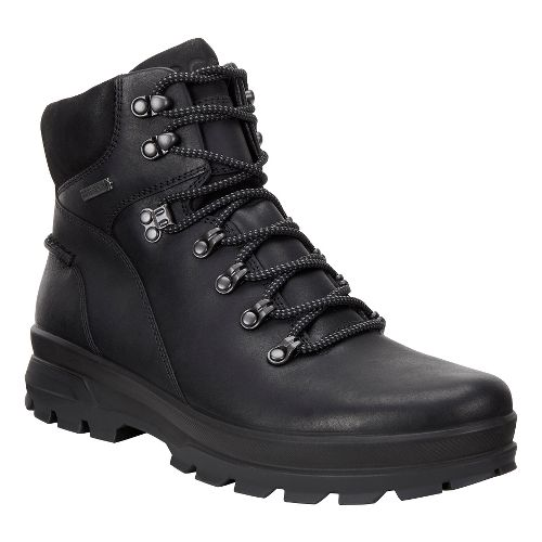 Mens Ecco Rugged Track GTX High Hiking Shoe - Black/Black 40