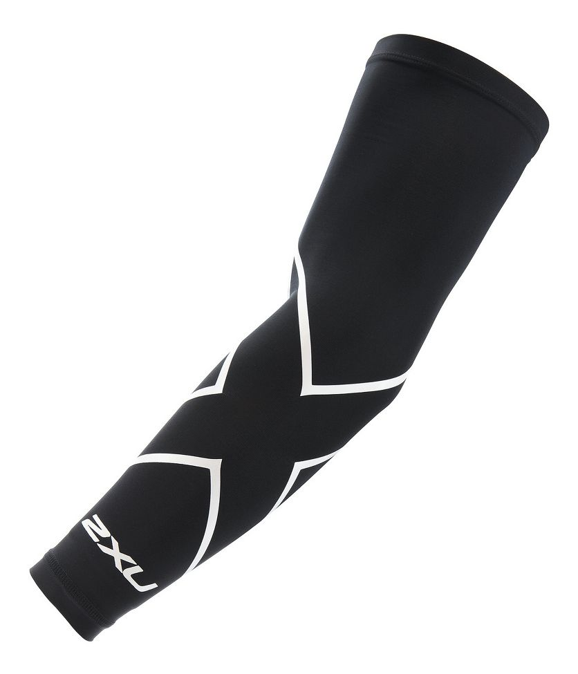 2XU® Compression Arm Guard (Single) :: The Compression Arm guard is a versatile active piece for any sport and activities with dynamic arm movements such as basketball, tennis, rowing, baseball, or gymnastics. Powerful compression support to entire arm.   This web exclusive item ships separately within the continental U.S. only. You can count on this item to ship in 3-5 business days!