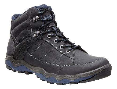 Mens Ecco Ulterra Dhaka Mid GTX Hiking Shoe - Black/Denim 46