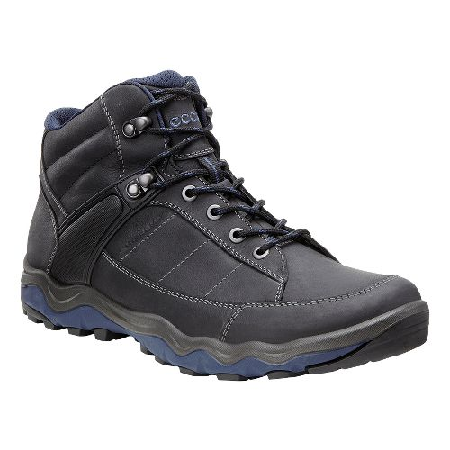 Mens Ecco Ulterra Dhaka Mid GTX Hiking Shoe - Black/Denim 44