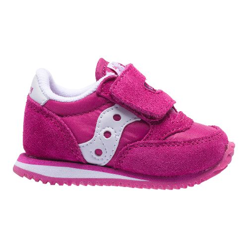 Kids Saucony Jazz Hook and Loop Casual Shoe - Paradise Pink 9C