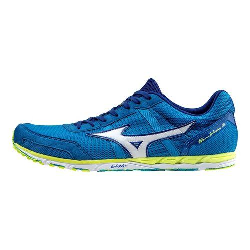 Unisex Mizuno Wave Ekiden 10 Racing Shoe - Blue/White/Yellow 7