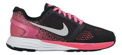Kids Nike LunarGlide 7 Running Shoe - Black/Pink 4.5Y