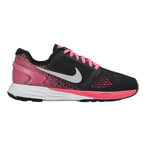 Kids Nike LunarGlide 7 Running Shoe - Black/Pink 3.5Y