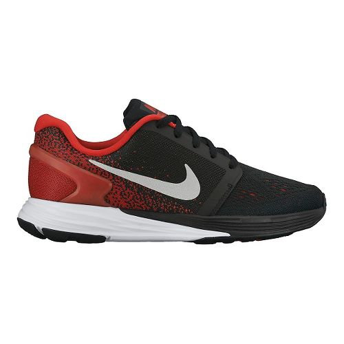Kids Nike LunarGlide 7 Running Shoe - Black/Red 4.5Y