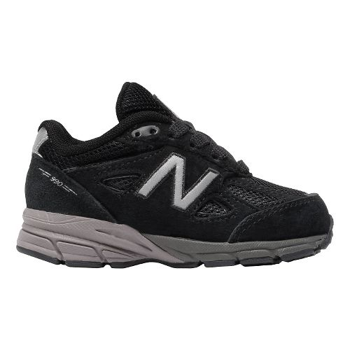 Kids New Balance 990v4 Running Shoe - Black/Black 6C