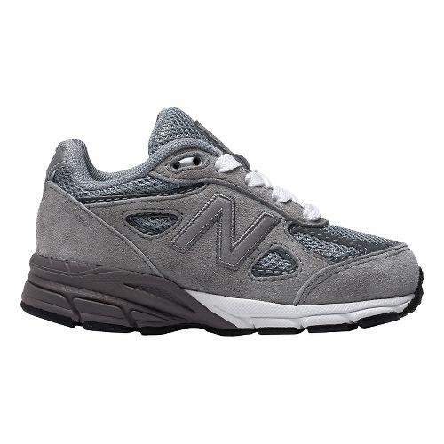 Kids New Balance 990v4 Running Shoe - Grey/Grey 8C
