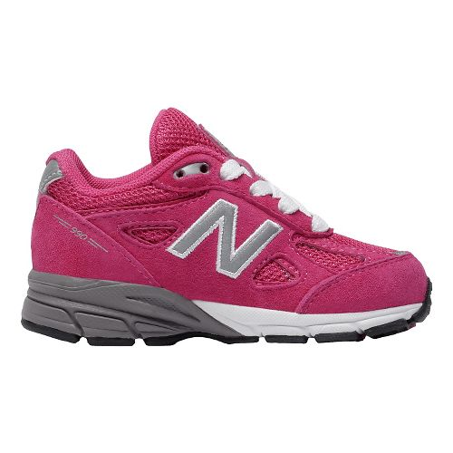 Kids New Balance 990v4 Running Shoe - Pink/Pink 6.5C