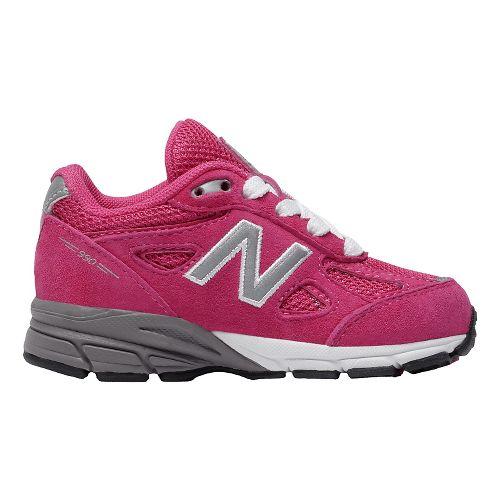 Kids New Balance 990v4 Running Shoe - Pink/Pink 8.5C