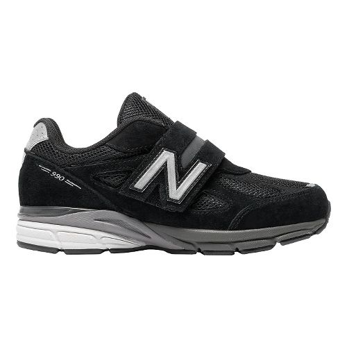 Kids New Balance 990v4 Running Shoe - Black/Black 12C