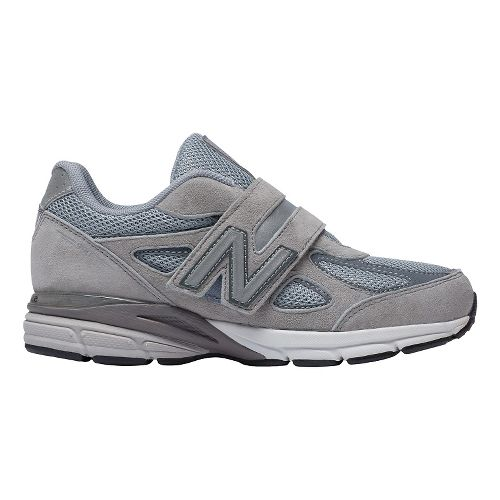 Kids New Balance 990v4 Running Shoe - Grey/Grey 2.5Y