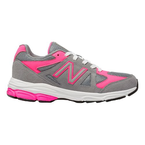 Kids New Balance 888v1 Running Shoe - Grey/Pink 3.5Y