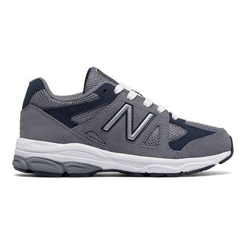 Kids New Balance 888v1 Running Shoe - Grey/Navy 7Y
