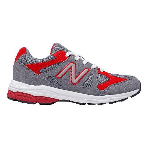Kids New Balance 888v1 Running Shoe - Grey/Red 3.5Y